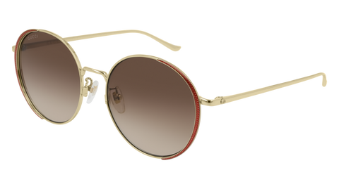 Gucci - GG0403SA Havana Sunglasses / Silver Flash Lenses