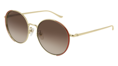 Gucci - GG0401SK Gold Sunglasses / Brown Gradient Lenses