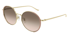 Gucci - GG0401SK Gold Sunglasses / Multicolor Gradient Lenses