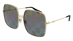 Gucci - GG0414S Gold Sunglasses / Tiger Multicolor Mirror Lenses