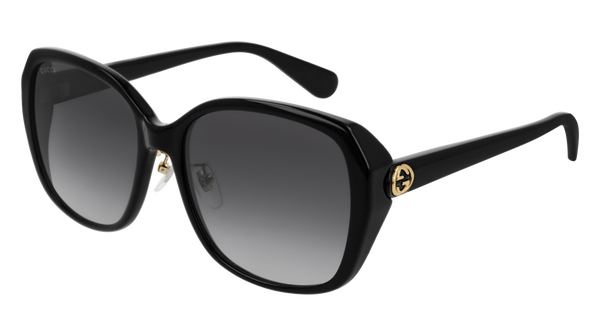 Gucci - GG0371SK Black Sunglasses / Grey Gradient Lenses