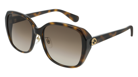 Gucci - GG0371SK Havana Sunglasses / Brown Gradient Lenses