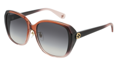 Gucci - GG0371SK Red Violet Sunglasses / Grey Gradient Lenses