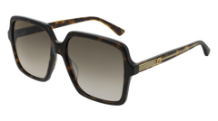 Gucci - GG0375S Havana Sunglasses / Brown Gradient Lenses