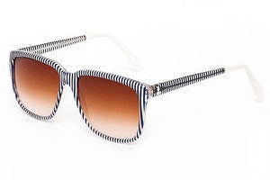 Sheriff&Cherry G12S Navy Stripe Sunglasses