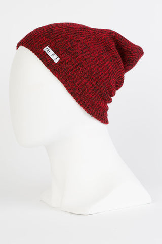 Neff - Daily Heather Black / Red Beanies