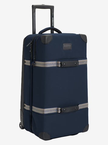 Burton - Wheelie Double Deck 86L Dress Blue Waxed Travel Bag