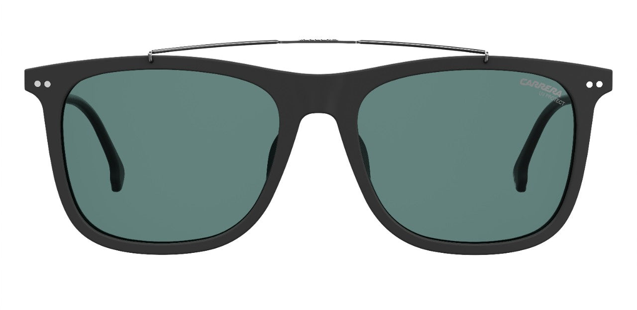 Carrera - 150 Matte Black Sunglasses / Green Lenses