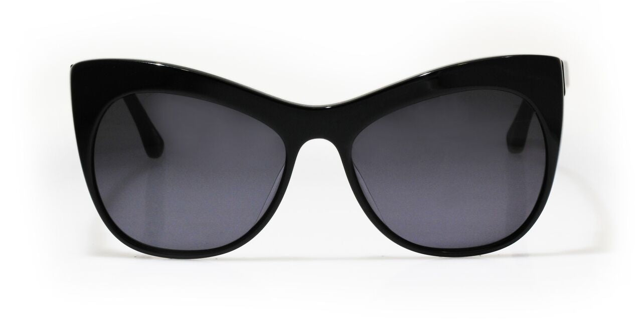 ba9ad57c2af Elizabeth and James - Lafayette Shiny Black Sunglasses   Black Mono Lenses