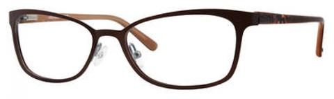 Adensco - Ad 222 53mm Light Brown Eyeglasses / Demo Lenses