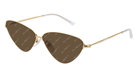 Balenciaga - BB0015S Gold Sunglasses / Brown Mirror Lenses