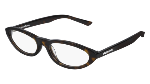Balenciaga - BB0031O Havana Yellow Eyeglasses / Demo Lenses