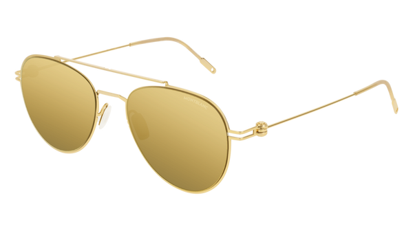 MontBlanc - MB0001S Gold Sunglasses / Gold Lenses