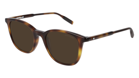 MontBlanc - MB0006S Havana Sunglasses / Brown Lenses