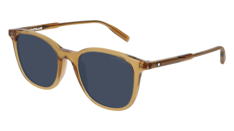MontBlanc - MB0006S Yellow Sunglasses / Blue Lenses