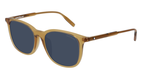 MontBlanc - MB0006SA Yellow Sunglasses / Blue Lenses