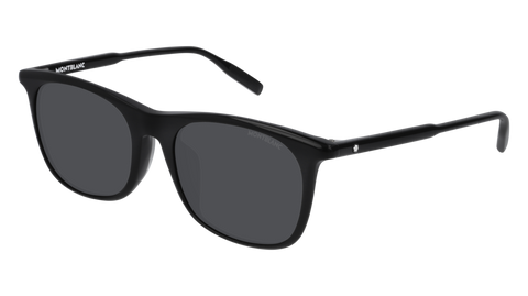 MontBlanc - MB0007SA Black Sunglasses / Grey Lenses