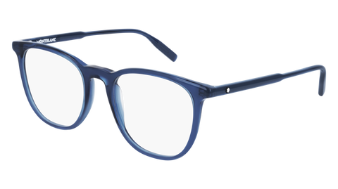MontBlanc - MB0010O Blue Eyeglasses / Demo Lenses