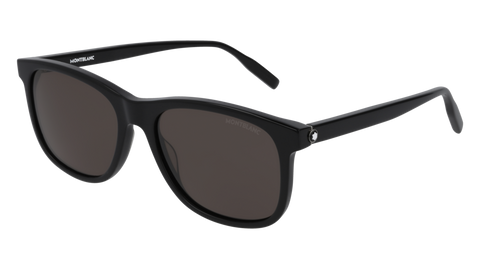 MontBlanc - MB0013S Black Sunglasses / Grey Lenses