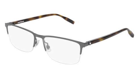 MontBlanc - MB0015O 58mm Ruthenium Eyeglasses / Demo Lenses