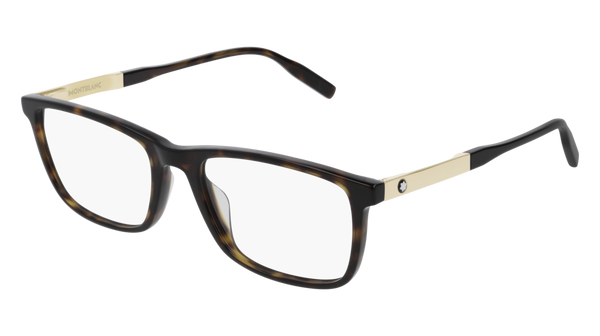 MontBlanc - MB0021O 55m Dark Havana Eyeglasses / Demo Lenses