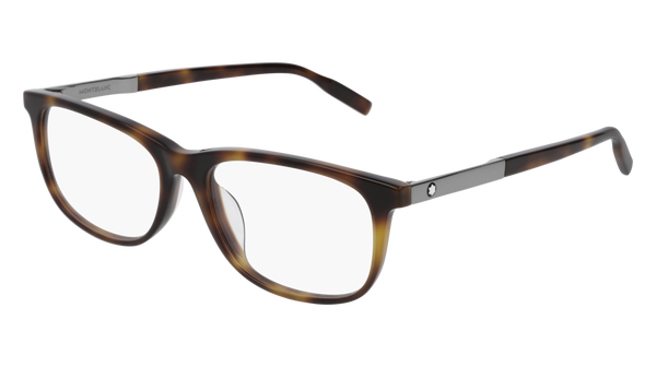 MontBlanc - MB0025OA Light Havana Eyeglasses / Demo Lenses