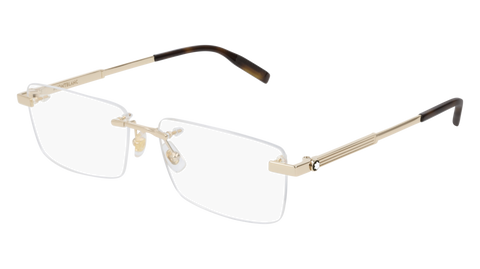 MontBlanc - MB0030O Gold Eyeglasses / Demo Lenses