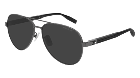 MontBlanc - MB0032S Ruthenium Sunglasses / Grey Lenses