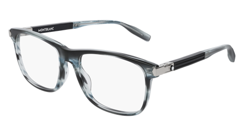 MontBlanc - MB0035O 57mm Blue Eyeglasses / Demo Lenses