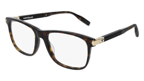 MontBlanc - MB0035O 55mm Dark Havana Eyeglasses / Demo Lenses