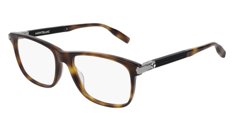 MontBlanc - MB0035O 55mm Light Havana Eyeglasses / Demo Lenses