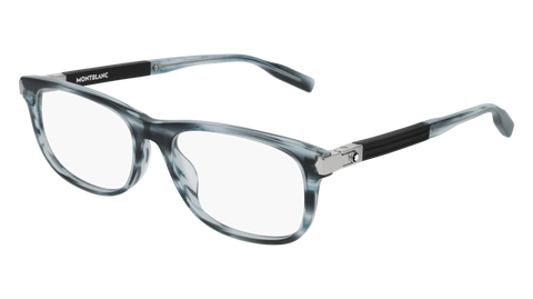 MontBlanc - MB0036O Blue Eyeglasses / Demo Lenses