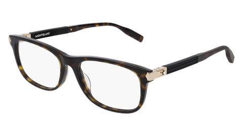 MontBlanc - MB0036O Dark Havana Eyeglasses / Demo Lenses