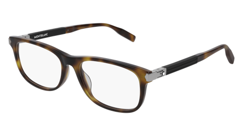 MontBlanc - MB0036O Light Havana Eyeglasses / Demo Lenses