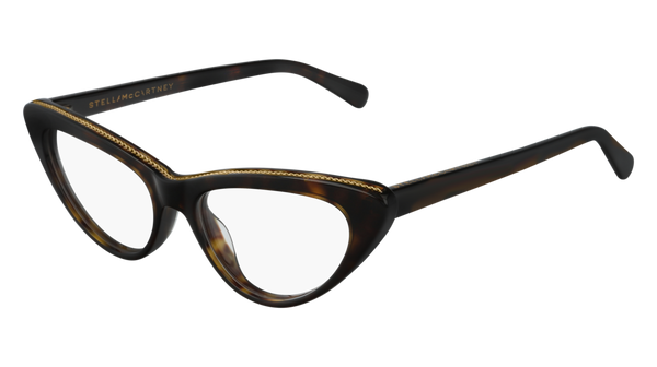 Stella McCartney - SC0190O Havana Eyeglasses / Demo Lenses