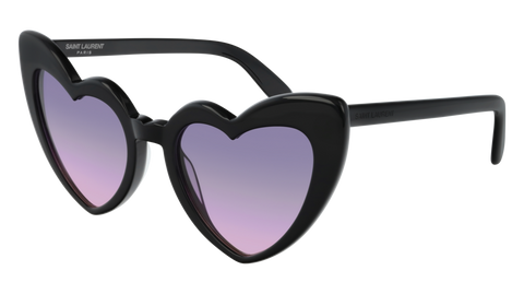 Saint Laurent - SL 181 LOULOU Black Sunglasses / Violet Lenses