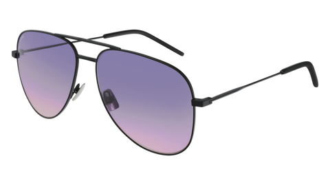 Saint Laurent - CLASSIC 11 Black Sunglasses / Violet Lenses