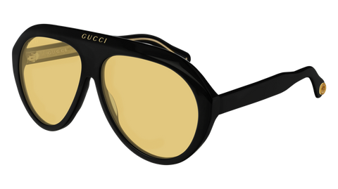 Gucci - GG0479S Black Sunglasses / Yellow Lenses