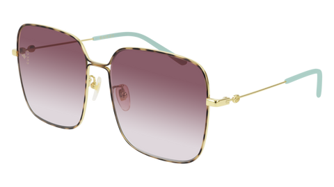 Gucci - GG0443S Gold Sunglasses / Violet Gradient Lenses