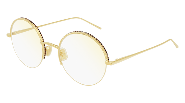 Boucheron - BC0076O Gold Eyeglasses / Demo Lenses
