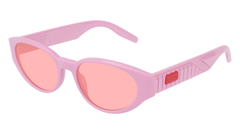 Puma - PU0228S Pink Sunglasses / Red Lenses