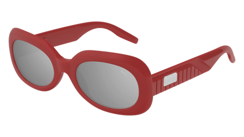Puma - PU0227S Red Sunglasses / Silver Mirror Lenses