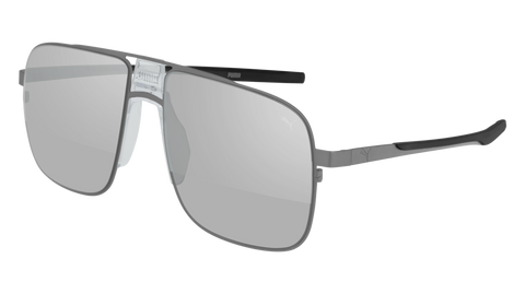 Puma - PU0223S Ruthenium Sunglasses / Silver Mirror Lenses