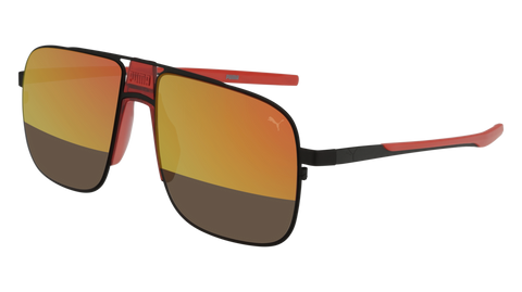 Puma - PU0223S Ruthenium Sunglasses / Red Mirror Lenses