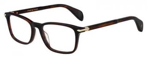 Rag & Bone - Rnb 7016 Dark Havana Eyeglasses / Demo Lenses