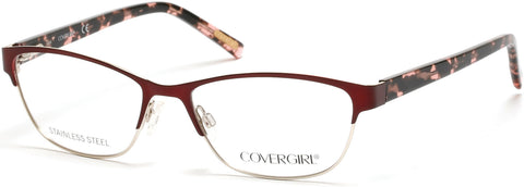 Cover Girl - CG0537 Bordeaux Eyeglasses / Demo Lenses