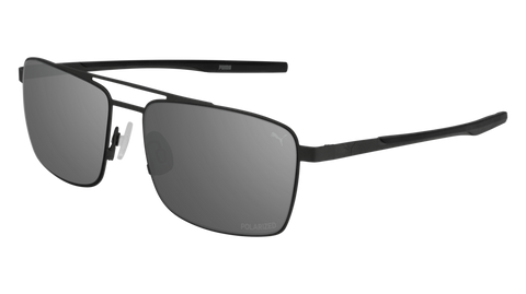 Puma - PU0222S Ruthenium Sunglasses / Silver Flash Lenses