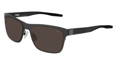 Puma - PU0219S Ruthenium Black Sunglasses / Brown Lenses