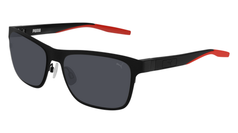 Puma - PU0219S Black Sunglasses / Smoke Lenses