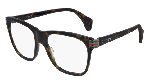 Gucci - GG0490O 53mm Shiny Havana Eyeglasses / Demo Lenses
